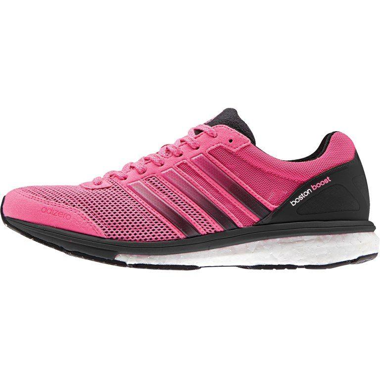 adidas Women's adizero Boston 5 Running Shoe - neon pink/neon pink/black 1