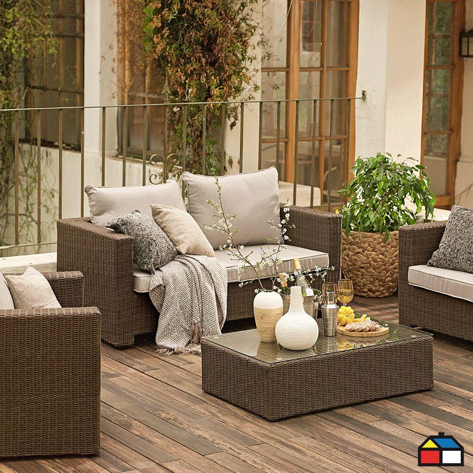Juego seccional de rat n pe terrazas jardin decoraci n - Juegos decoracion de interiores ...