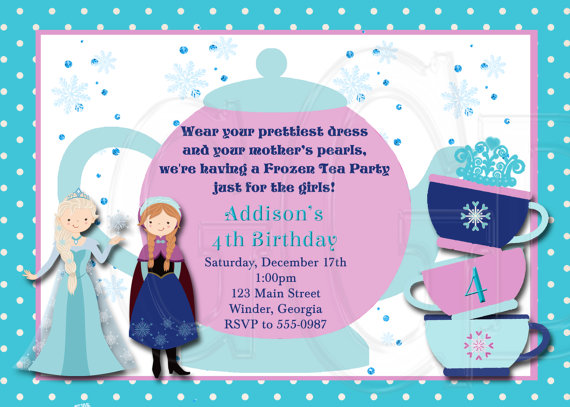 frozen princess tea party birthday ideas – Disney Princess Tea Party Invitations