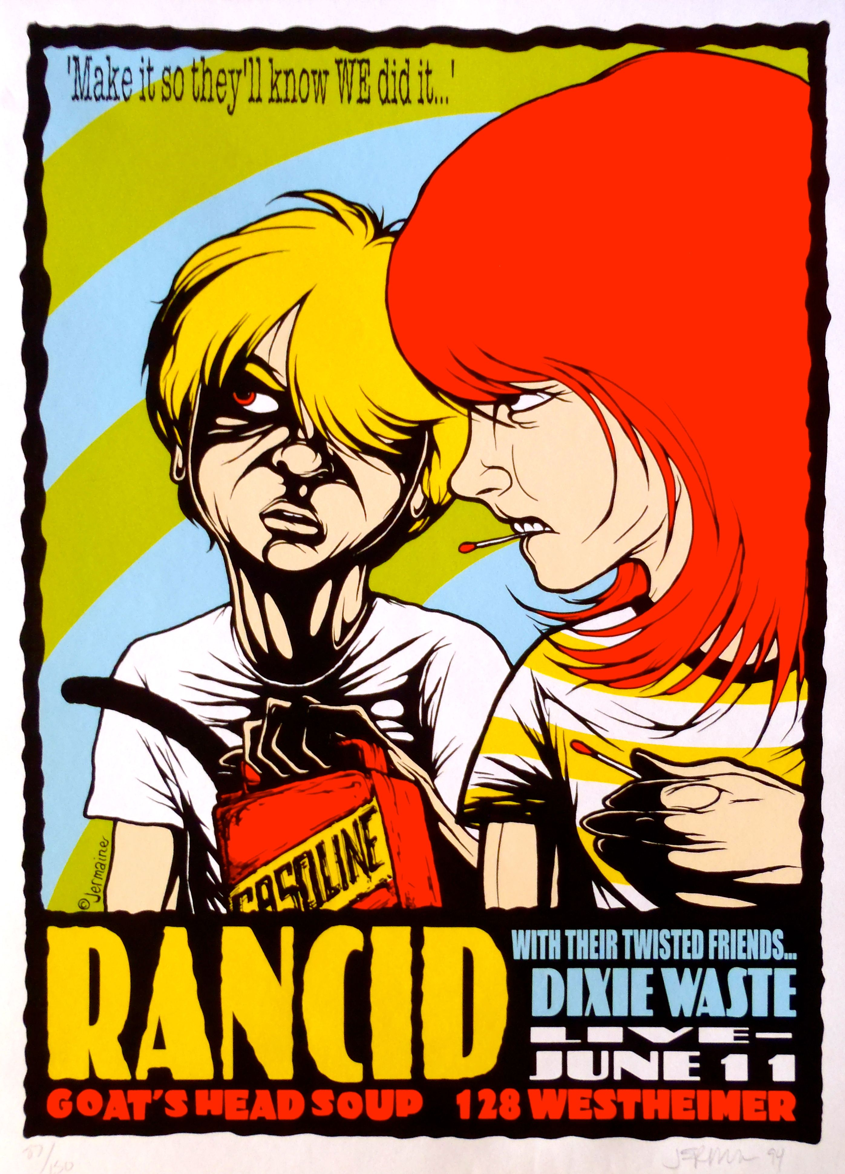 Rancid Concert Posters Music Poster Gig Posters