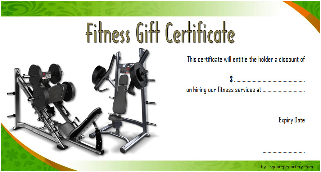 Fitness Gift Certificate Template 3 Free Fitness Gifts Gift Certificate Template Certificate Templates