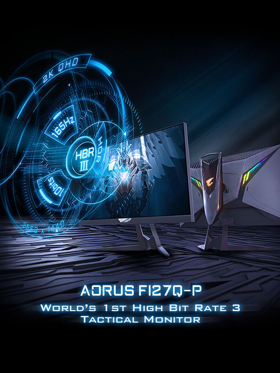 The Gigabyte Aorus Fi27q P Is The World S First High Bit Rate 3