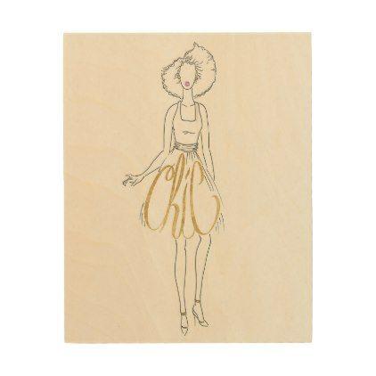 Wild Apple   Style Sayings - Chic Dress Wood Wall Art   Chic dress