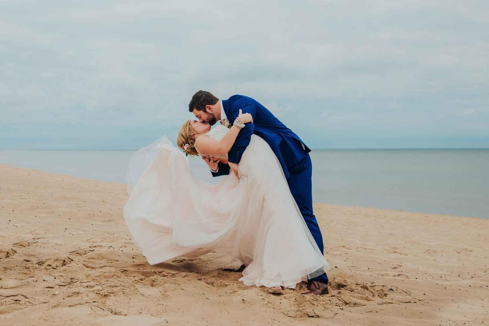 Allison williams wedding dress  Beach wedding photography  Our Favorite Instagram Posts