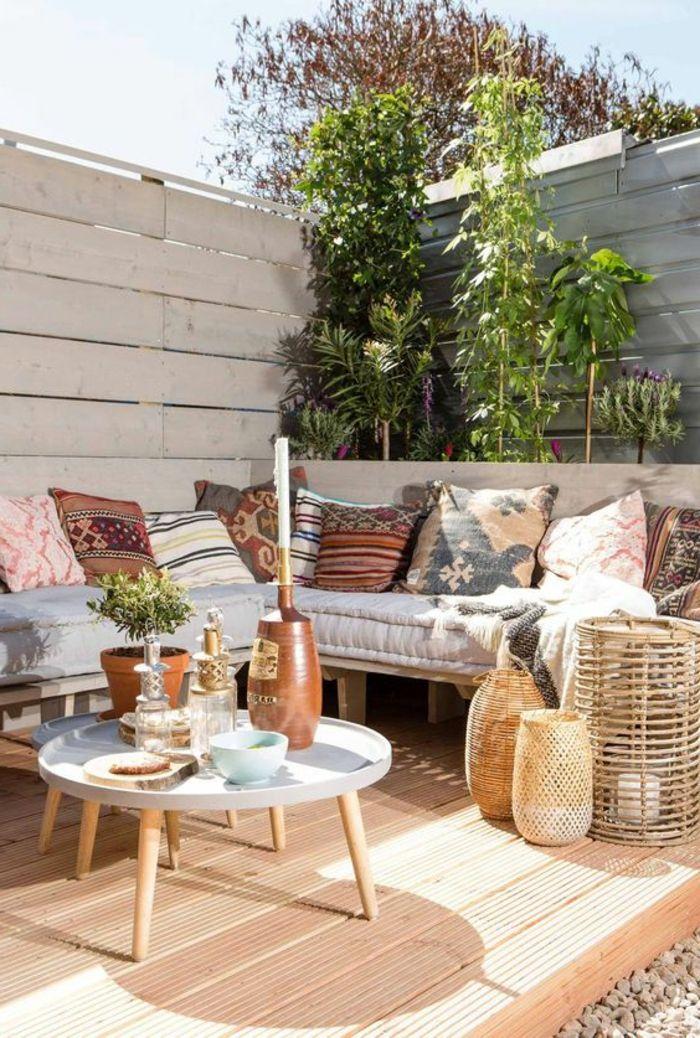 1001 ideas de decoracion de terrazas grandes o peque as for Muro de separacion terraza