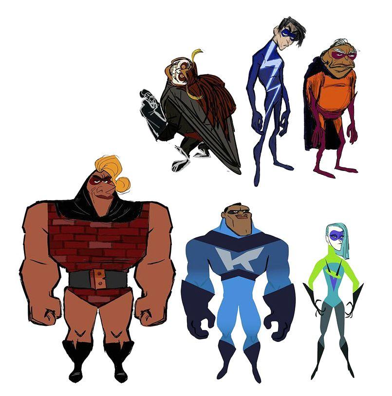 The Incredibles 2 Visual Development Art C Pixar Animation Studios Blog Website Www Cartoon Character Design Design Comics Drawing Cartoon Characters