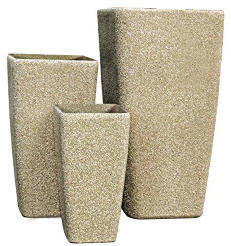 Stein SM Serie, Beige, Sandstone (3 Stück) - pflanzkübel selber ...