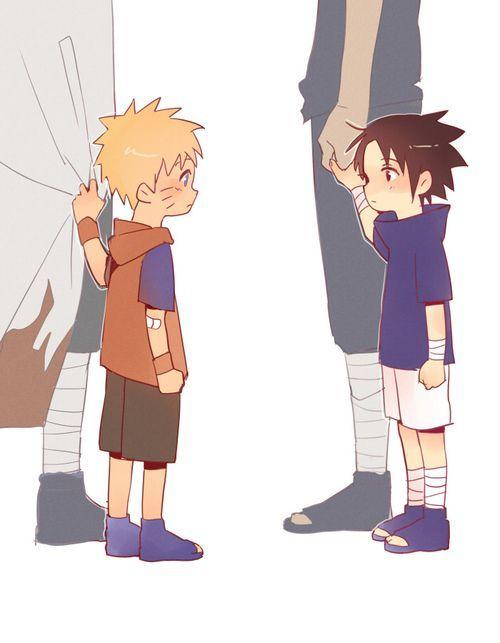 Image result for naruto and sasuke kid