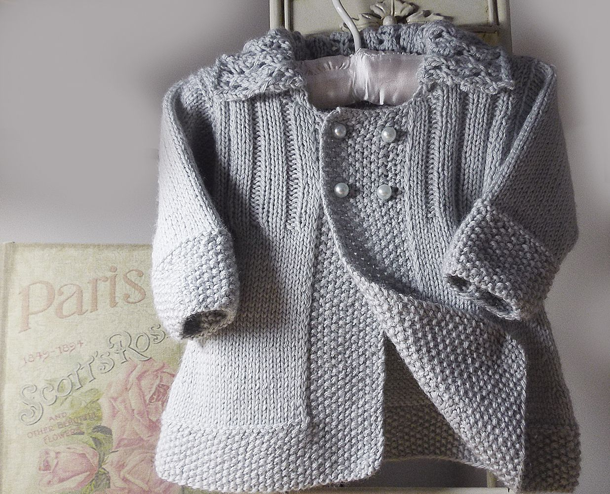 Ravelry: Baby girls jacket with lace collar P063 by OGE Knitwear Designs