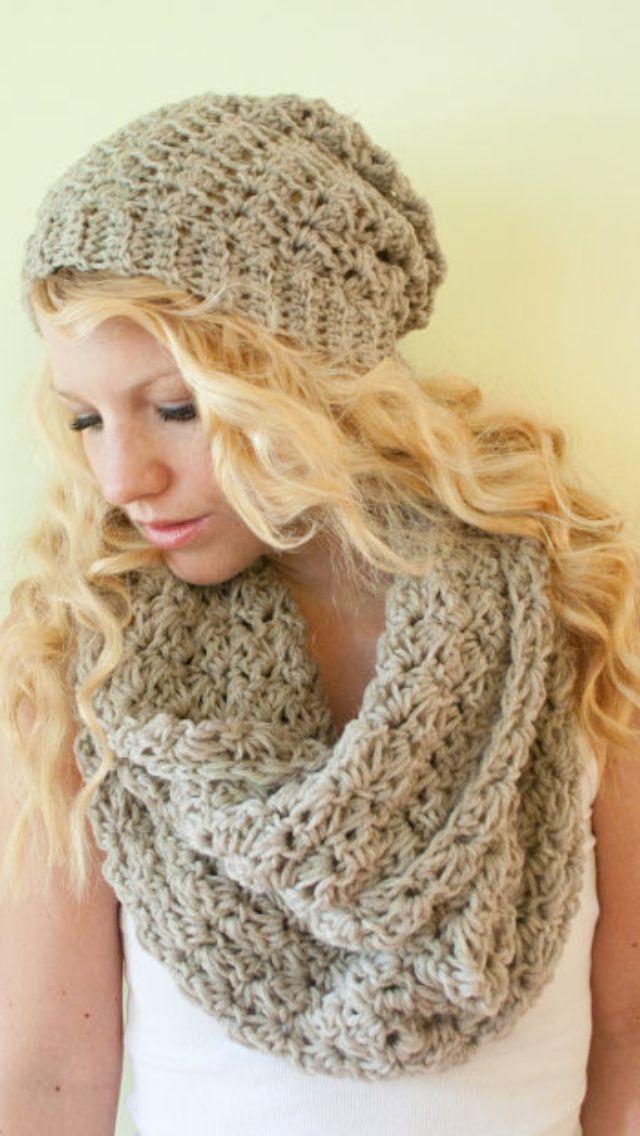 Conjunto gorra y bufanda | knit | Pinterest | Colores y Bufandas