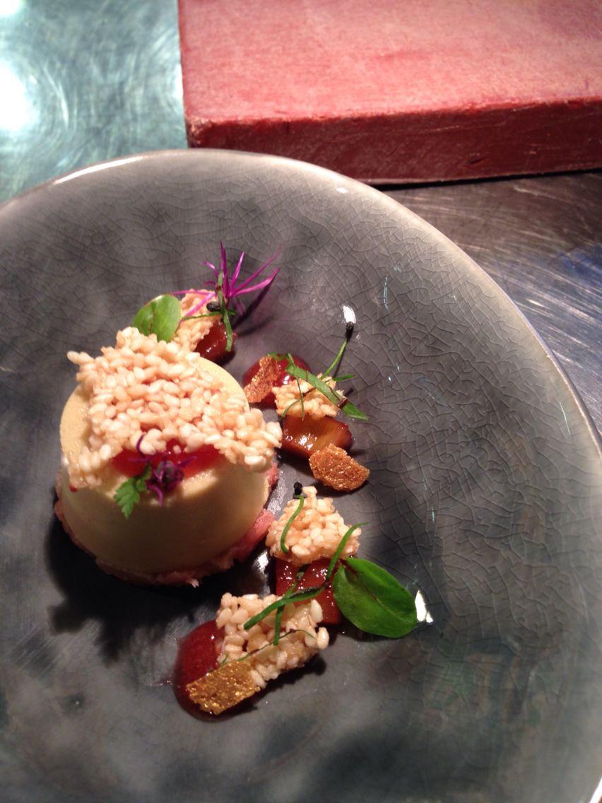 Création juin : foie gras / rhubarbe