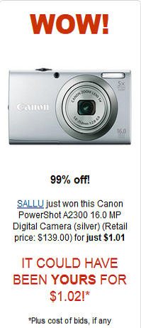 Canon PowerShot for $1.01 check it out!