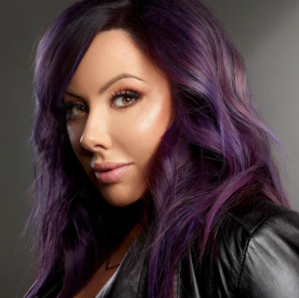 Marlena Stell From Make Up Geek Dark Smoky Purple Hair Purple Hair Hair Styles Long Hair Styles