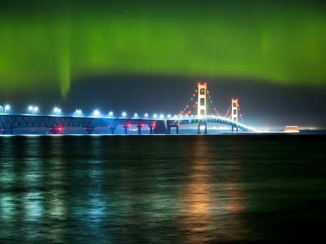 Northern lights over northern Michigan