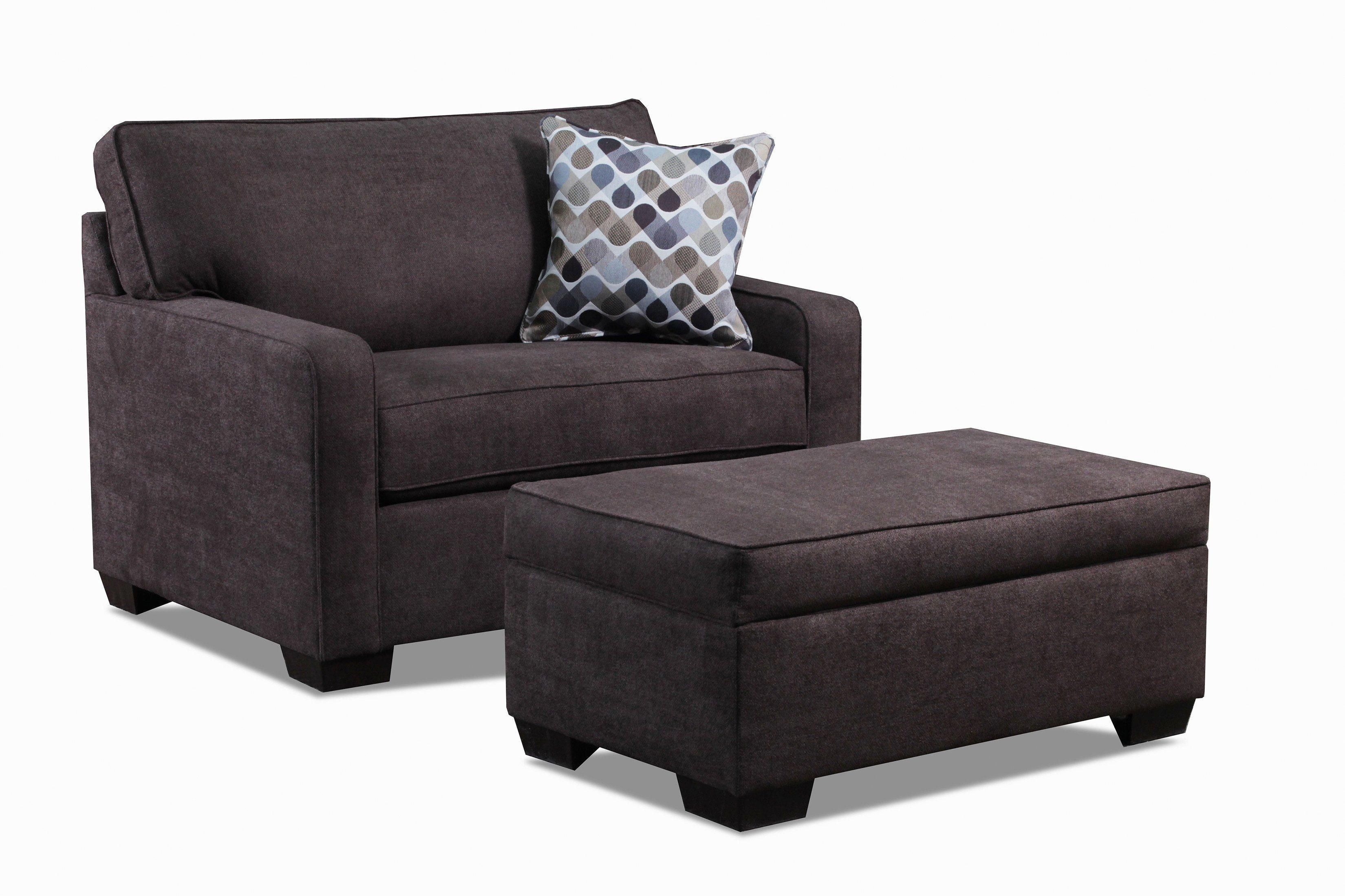 Alcina chair and a half with storage ottoman