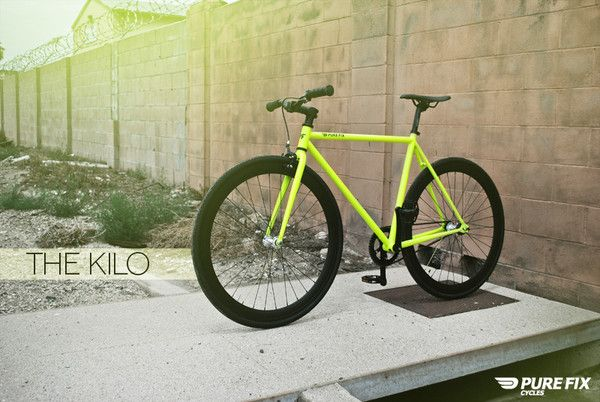 The Kilo, a glow-in-the-dark bike, by Pure Fix Cycles.