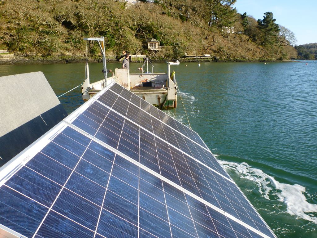 The Launch Of New Solar Panels To Power Our Oyster Nursery On The Helford River Sustainable Seafood With Images Aquaponic Gardening Solar Aquaponics