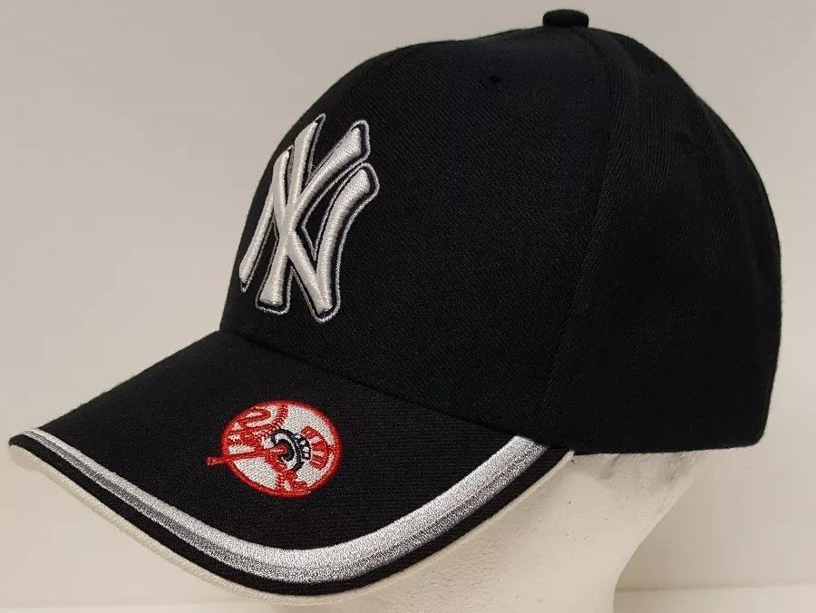 los angeles on sale special section New York Yankees Ball Cap Hat Black White Silver Red MLB Baseball ...