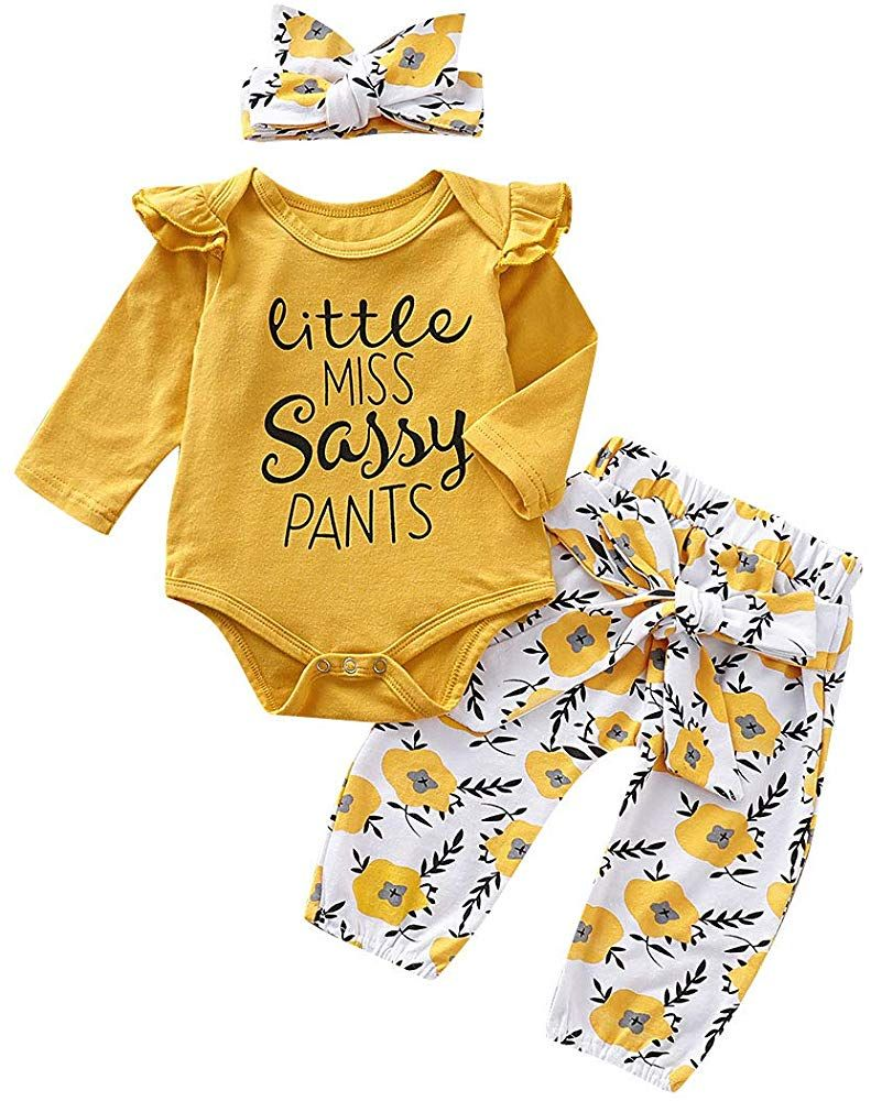 Newborn Baby Girls Leopard Clothes Sets Short//Long Sleeve Romper Jumpsuit Top Pants Headband 3pcs Infant Spring Outfit Set
