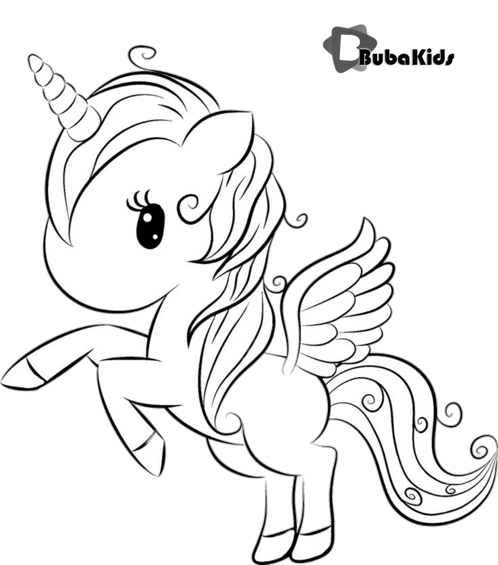 Cute Unicorn Coloring Page Free Printable Coloring Pages Bubakids Com Coloring Cute Free Unicorn Coloring Pages Animal Coloring Pages Cute Coloring Pages