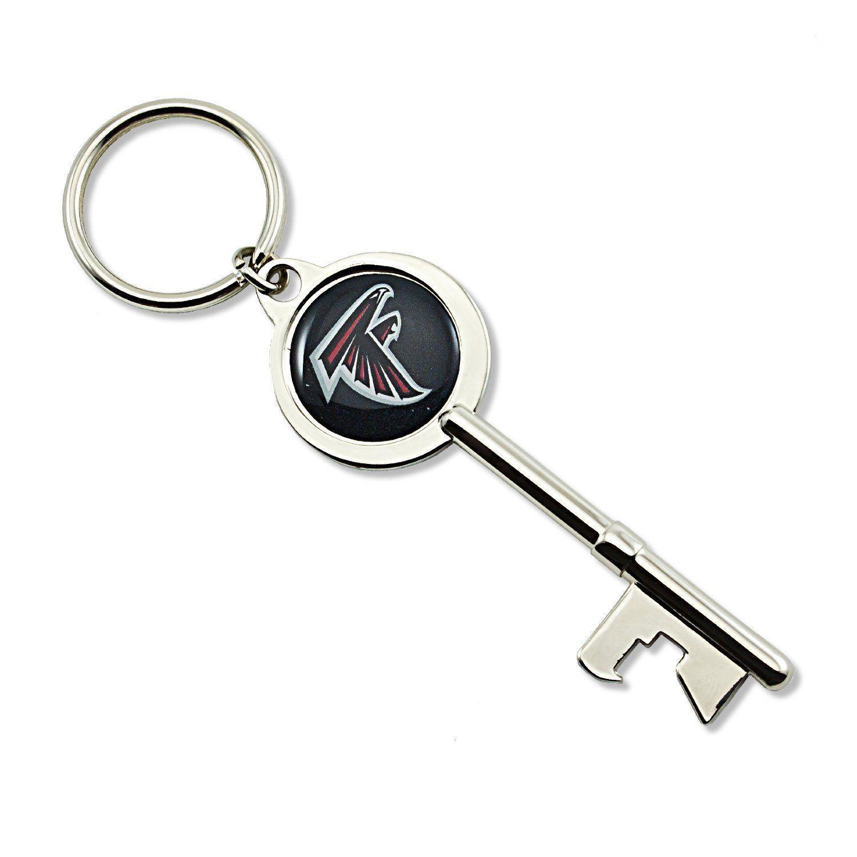 Atlanta Falcons Skeleton Key Bottle Opener Keychain