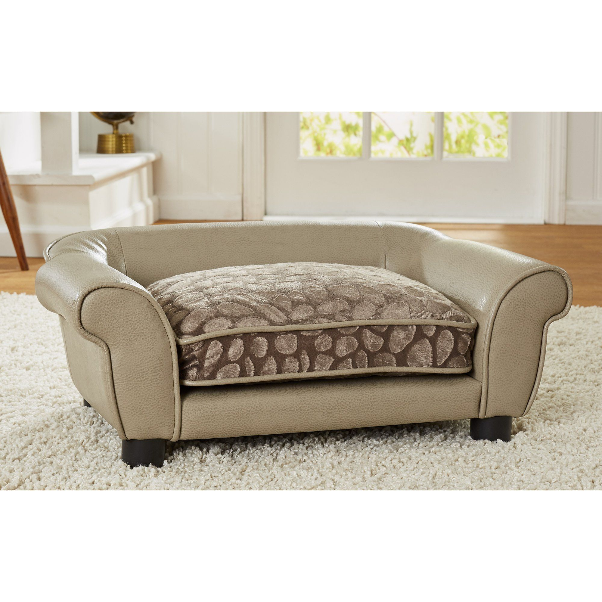 Enjoyable Enchanted Home Pet Rocco Sofa Stone Pewter For Dog 28 37 Forskolin Free Trial Chair Design Images Forskolin Free Trialorg