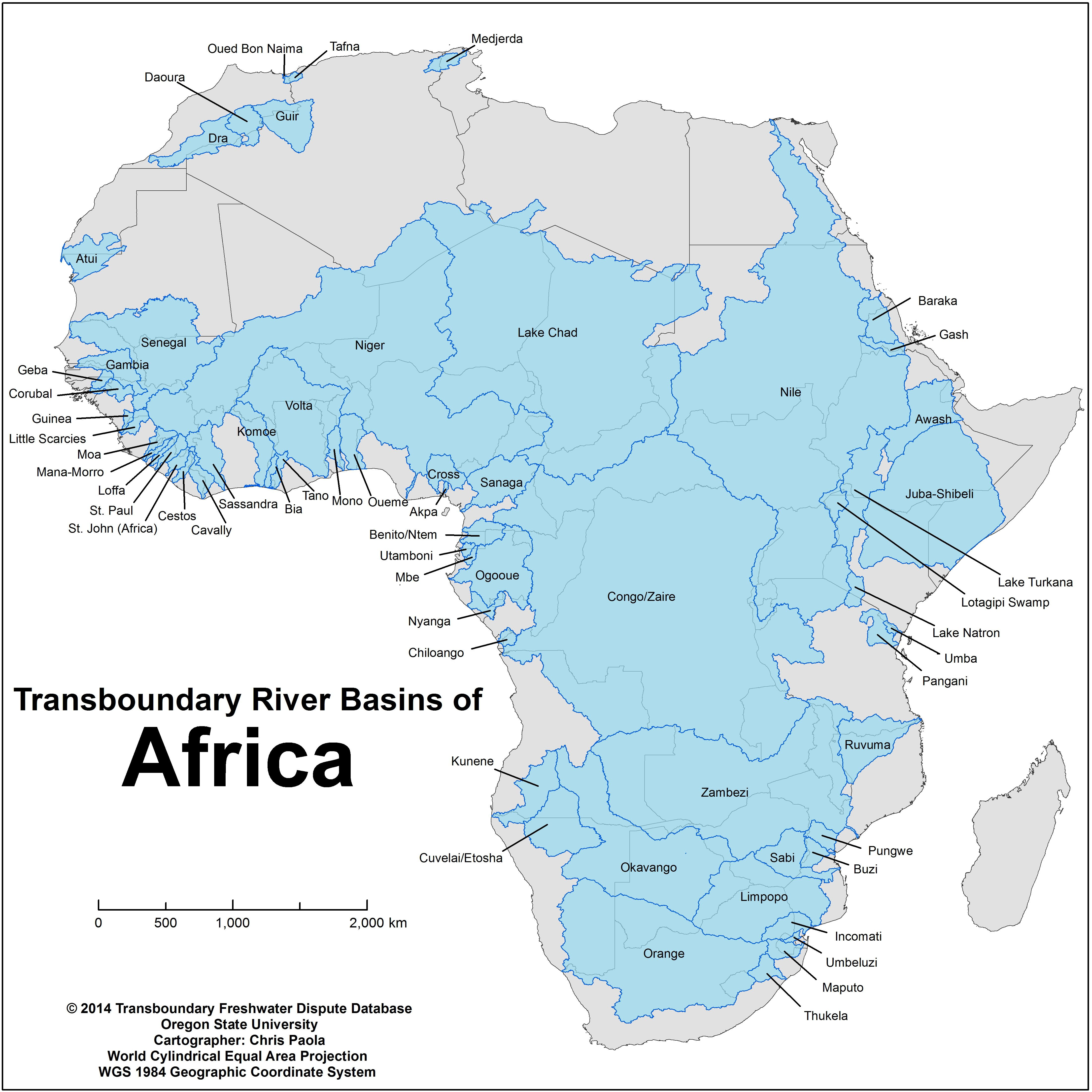 Africa River Basins Clean Water Pinterest - World map of rivers in africa