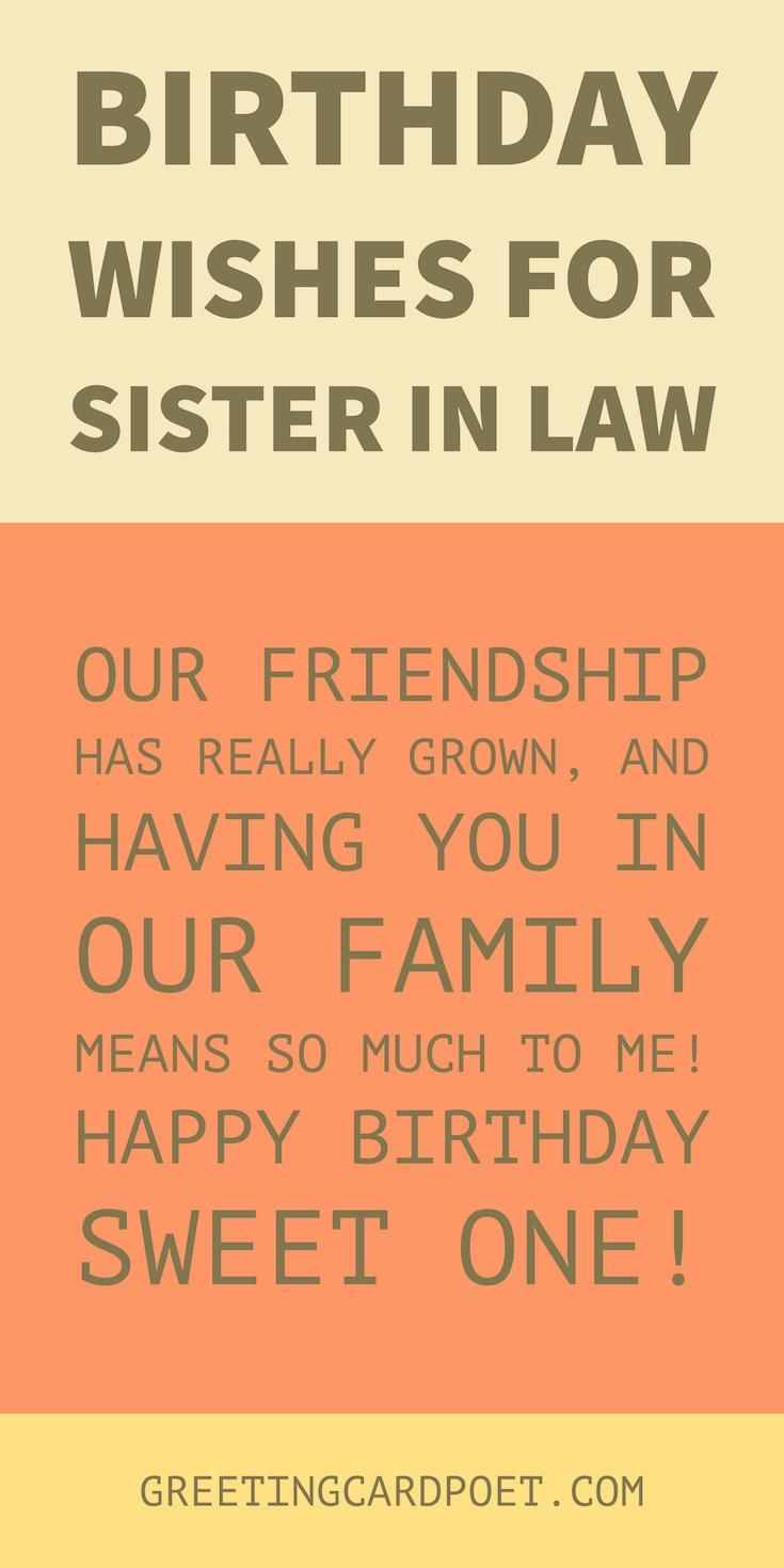 Birthday wishes sister in law to share greeting card