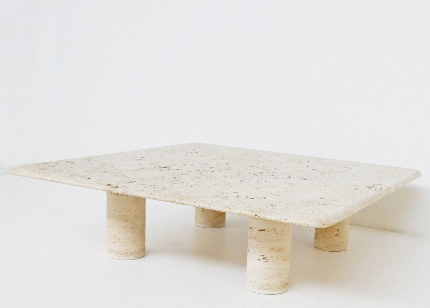 For Sale Large Travertine Coffee Table By Angelo Mangiarotti For Up Amp Up Italy 1970s Travertine Coffee Table Coffee Table Marble Coffee Table