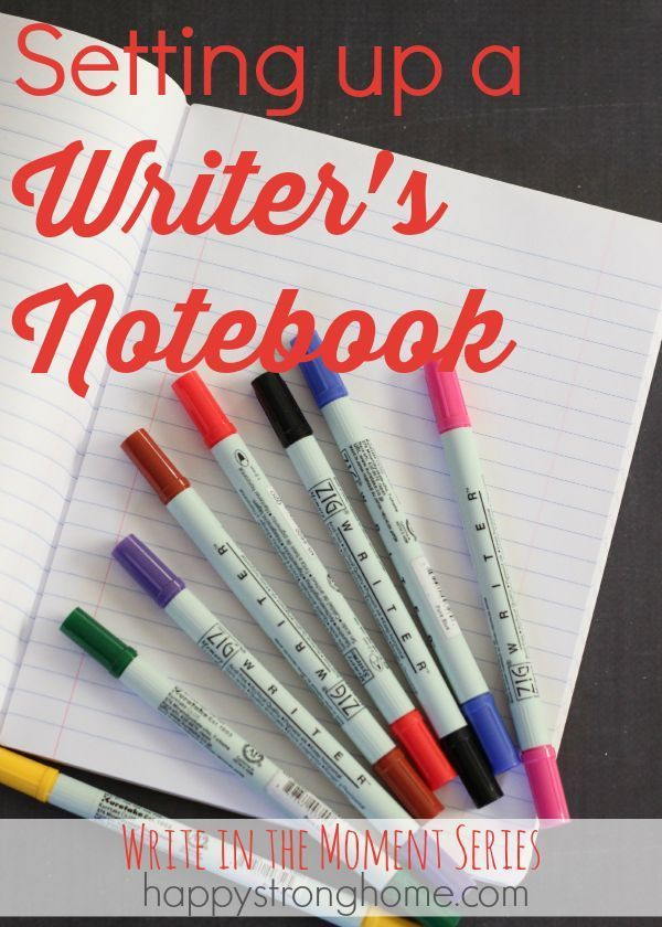 Setting up a Writer's Notebook