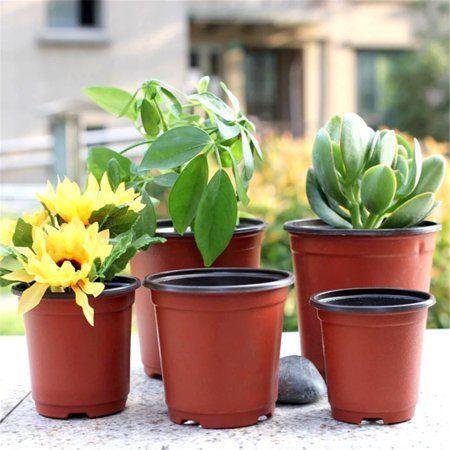100Pcs Garden Plant Pots Plastic Flower Seedlings Nursery Bowl Home Indoor