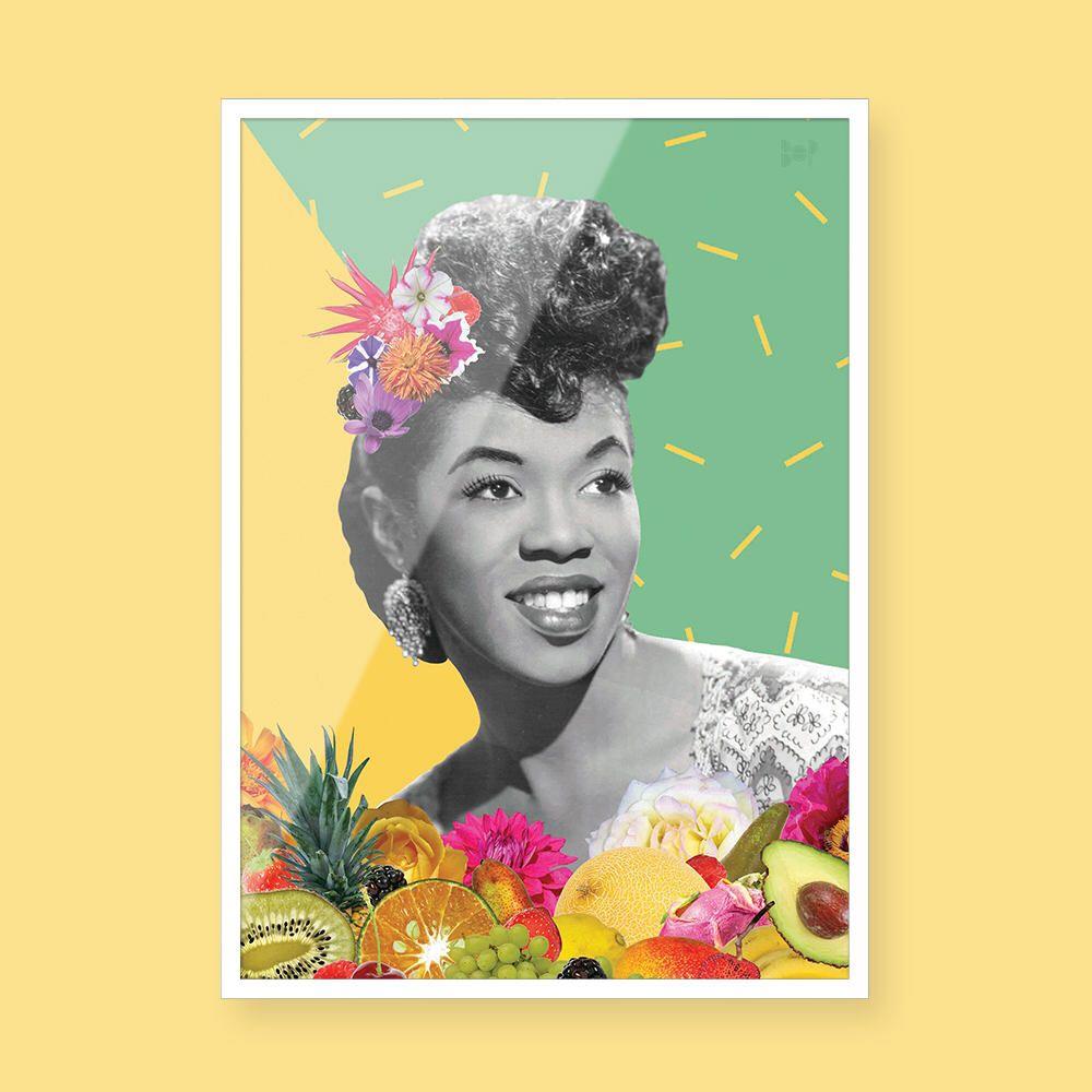 Sarah Vaughan - Black Art - Collage Art - Black Girl Magic - Vintage ...