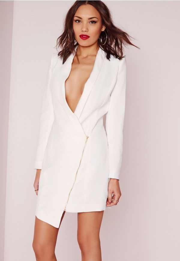 Suit Blazer Zippered Dress | Fashion Statement Prt 2. | Pinterest ...