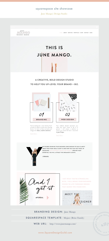 Site Showcase: June Mango Design Boutique | Website designs ...