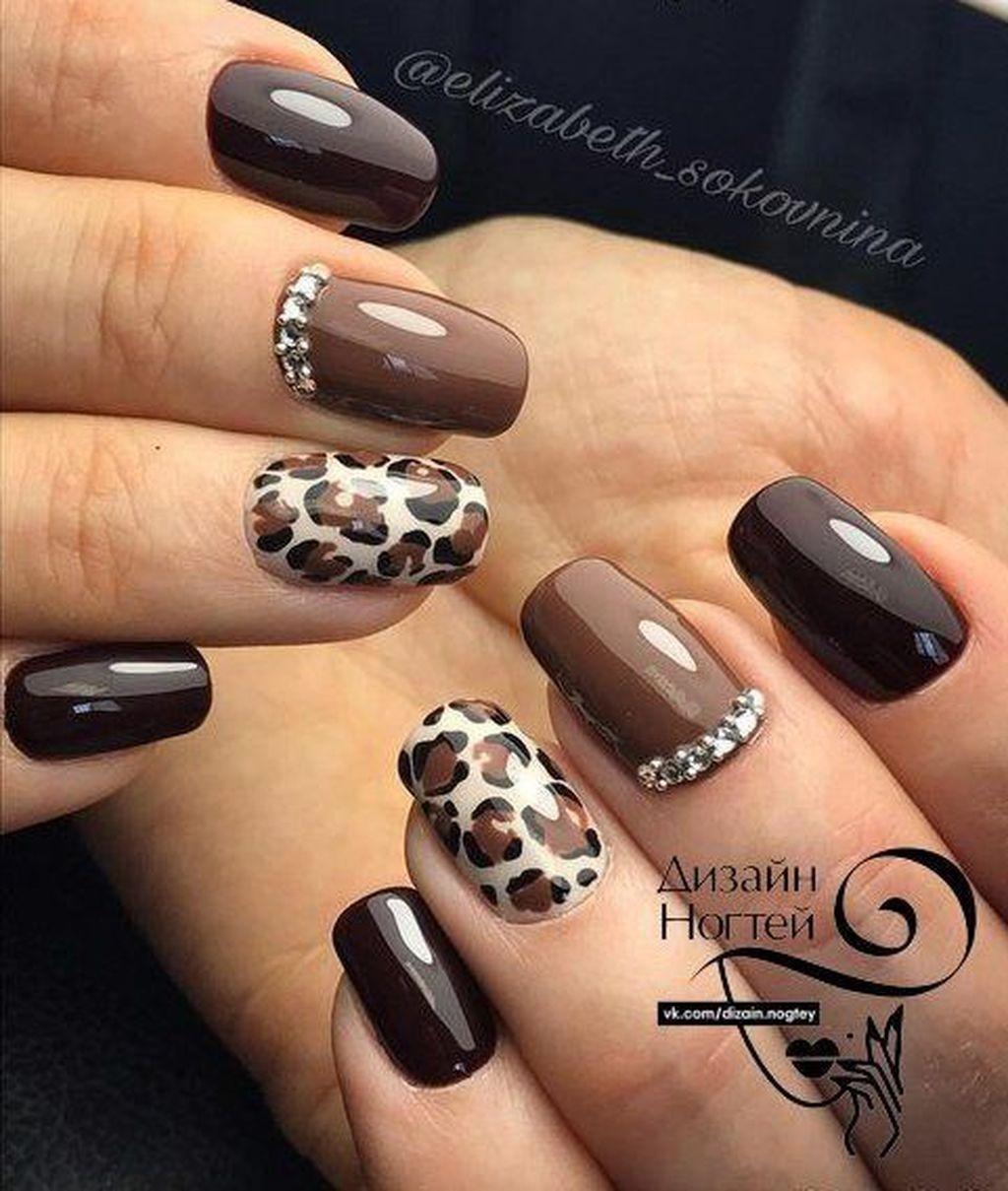 30 Adorable Autumn Nail Art Designs Ideas That Looks Cool Brown Nail Art Brown Nails Design Fall Time Nails