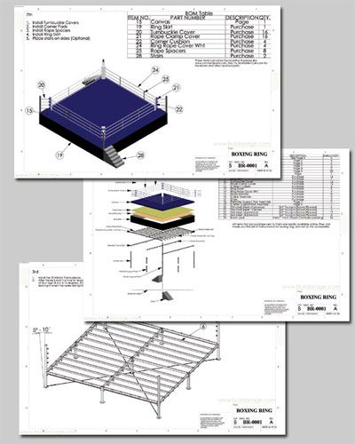 The Best Plans To Build Your Own Boxing Ring Download The Blueprints Free