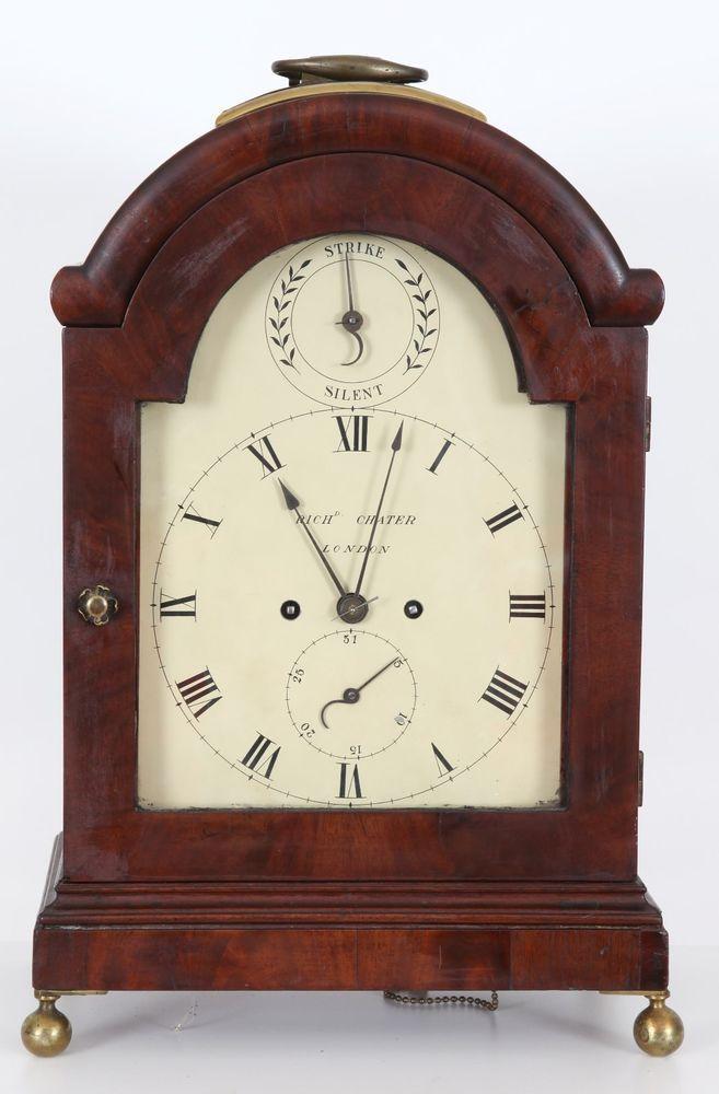London Mahogany 8 Day T S Fusee Bracket Clock Richard Chater