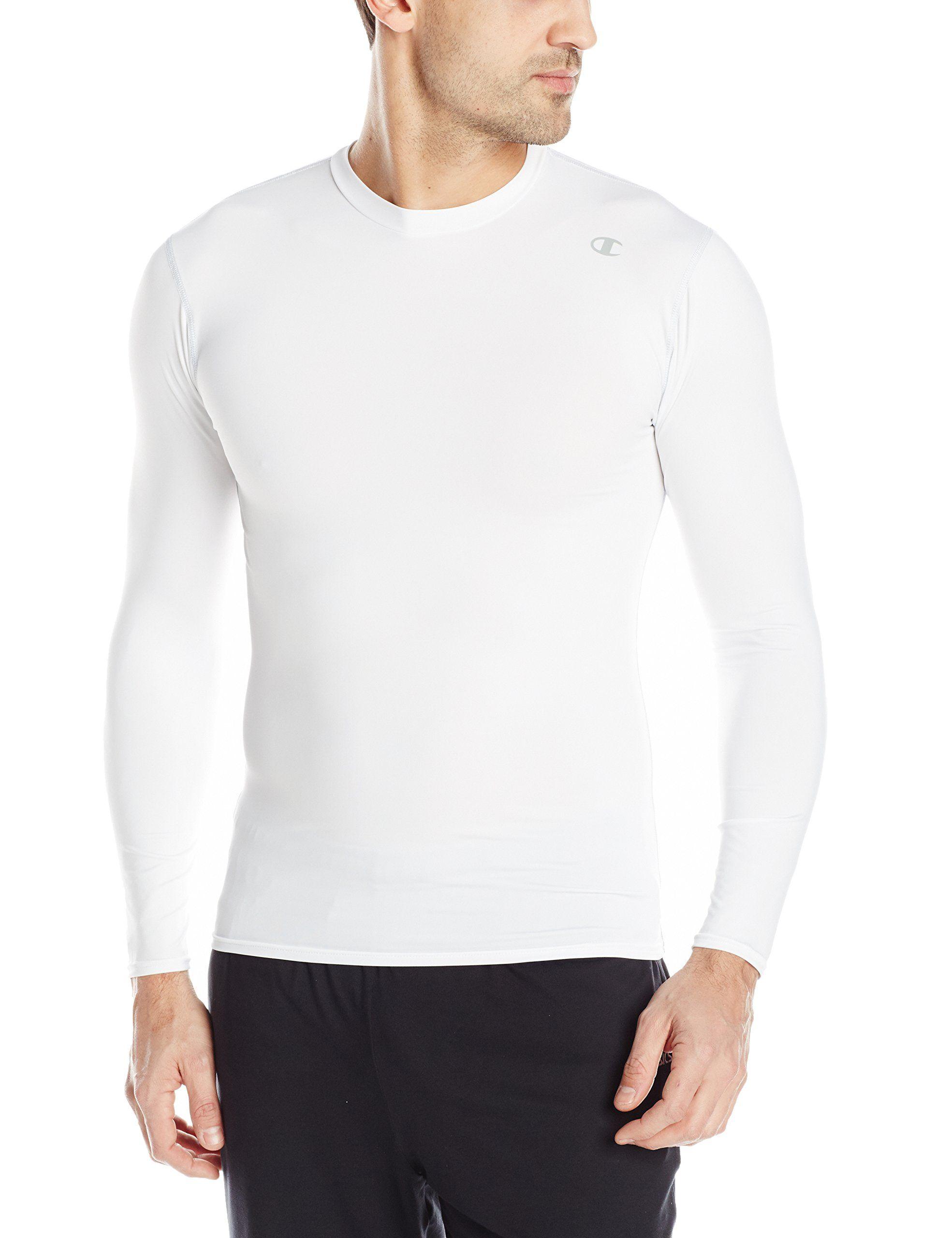 c97c51849a702b Champion Men s Double Dry Long Sleeve Compression Shirt