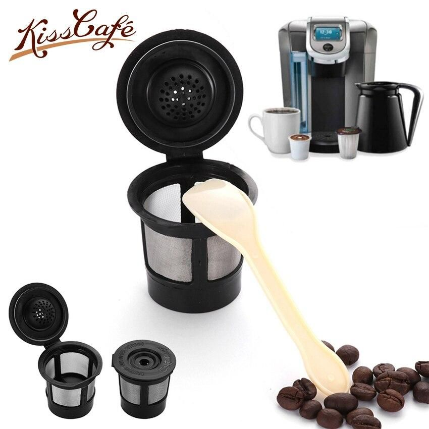 3PC Reusable Capsule 304 Stainless Steel Refillable Coffee