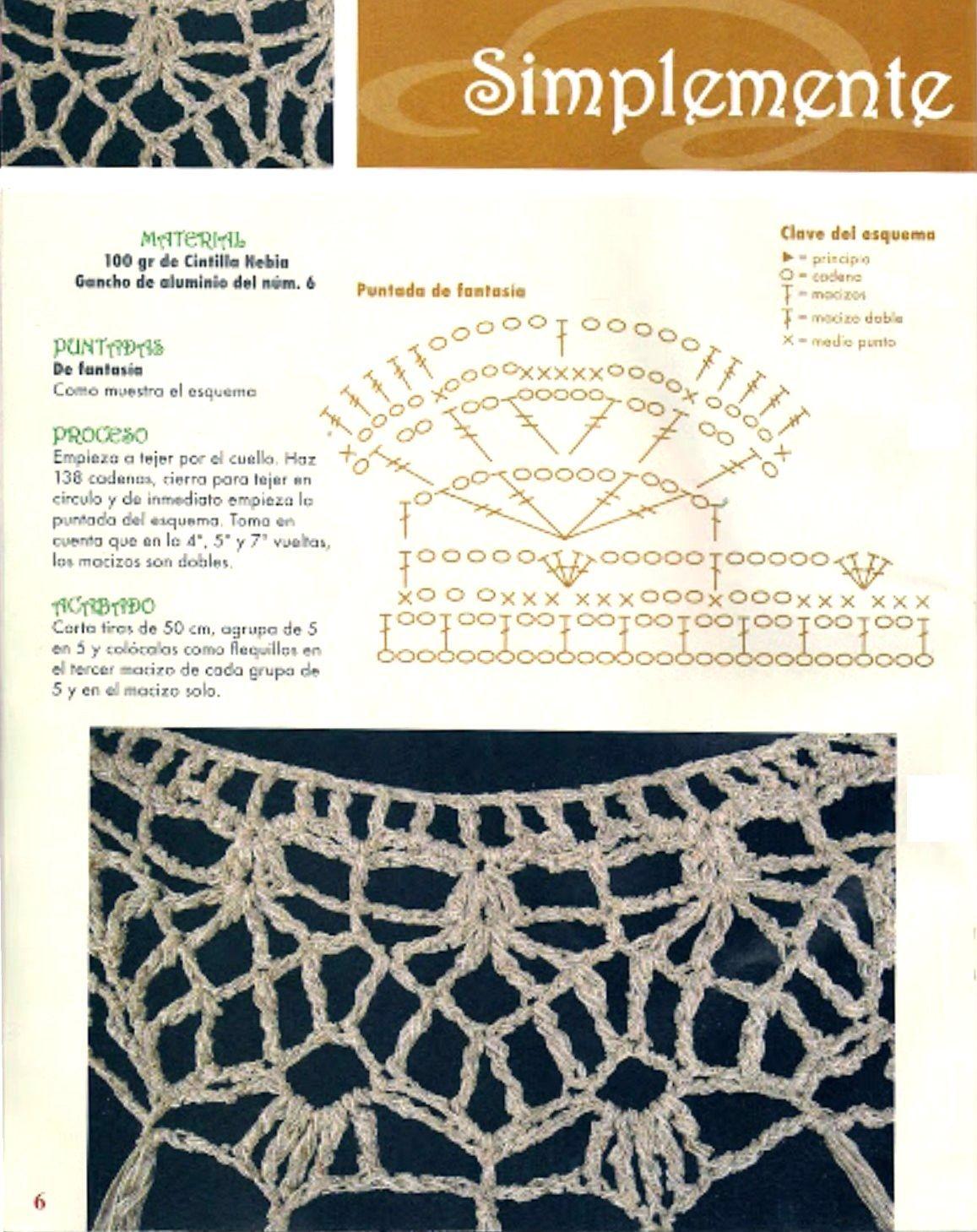 Vistoso Los Patrones De Crochet Libre Para Cuellos Galería - Manta ...