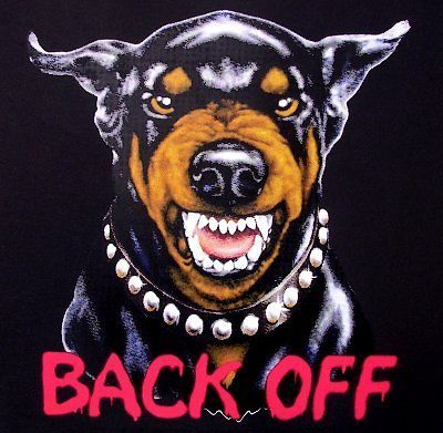 Back Off Doberman Pinscher Growling Dog T Shirt Ws50 Doberman