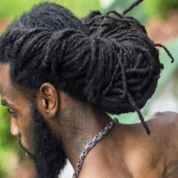 Dread Updo Hairstyles For Men