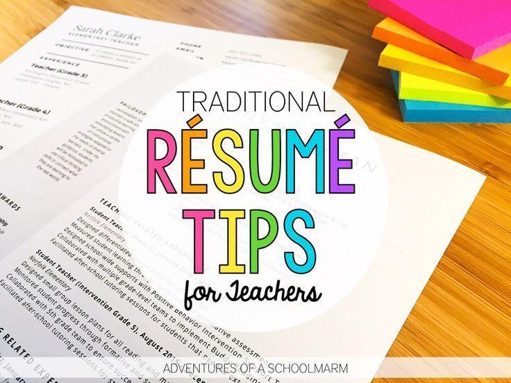 Résumé Writing for Teachers Teacher tips Pinterest Resume - resume lesson plan