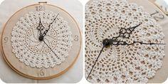 Artesanato com amor...by Lu Guimarães: #reciclarepreciso - Relógio de crochê