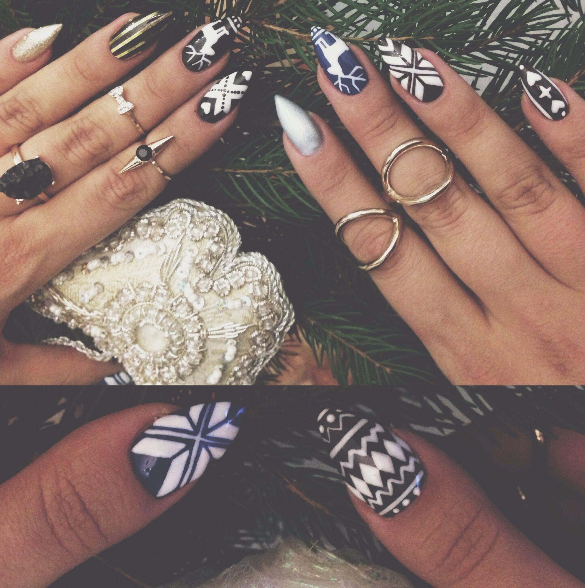 Stiletto Nails By Amelina Anna Winter Nail Designs 2014 Nail Art