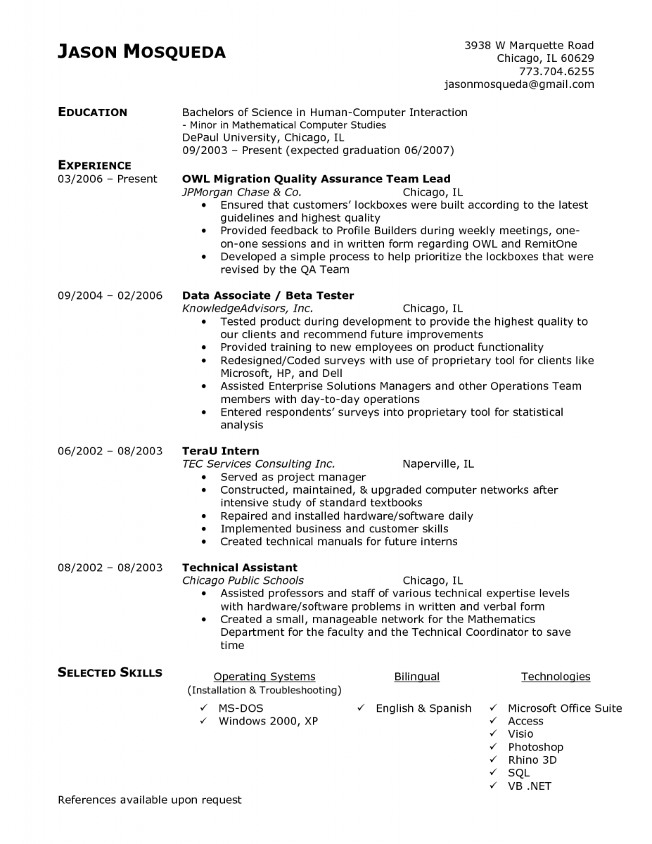 Qa Sample Resume For Qa Lead  Pinterest  Template And Sample Resume