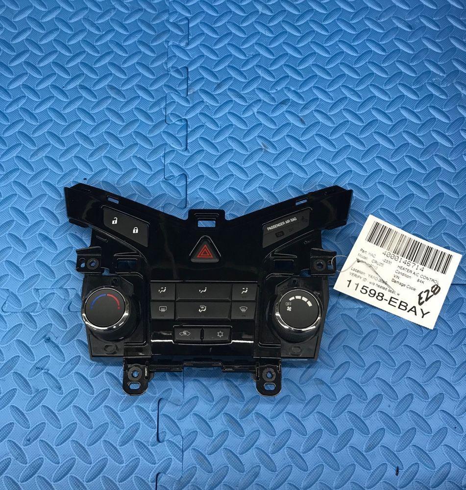 Oe Gm Chevrolet Cruze Part Heater A C Fan Blower Climate Control Unit 95017054 Gm Chevrolet Cruze Cruze Control