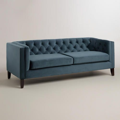 Midnight Blue Kendall Velvet Sofa Wayfair Living Room Furniture Affordable Sofa Sofa Colors