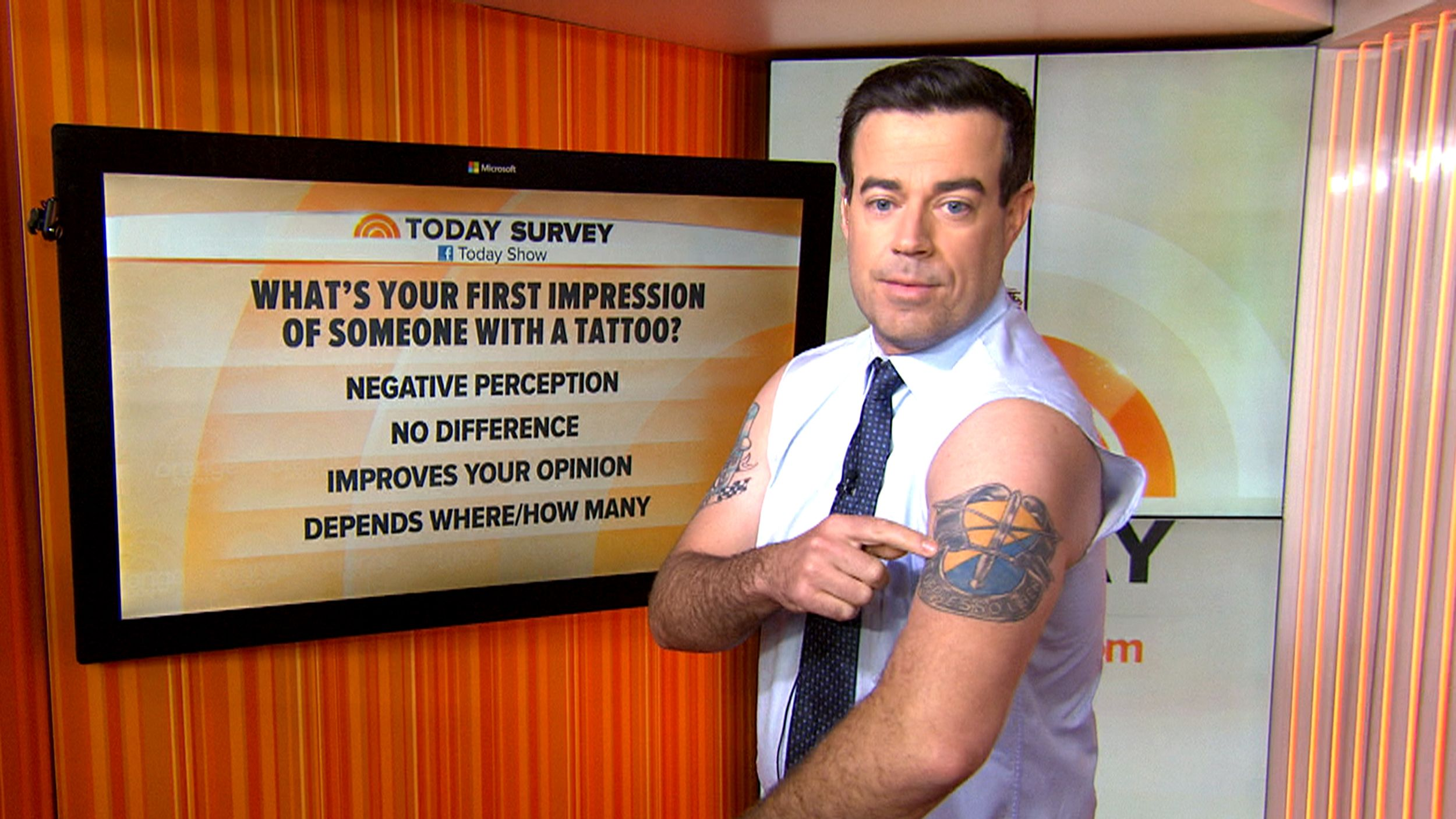 Crab Claw Carson Daly Shares The Tales Behind His Tats With