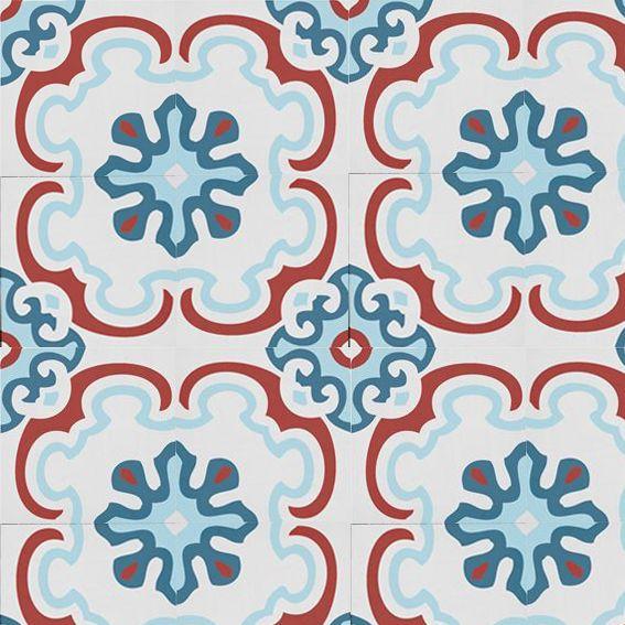 Carreaux De Ciment Bleu Rouge Carreau De Ciment Carreau Ciment